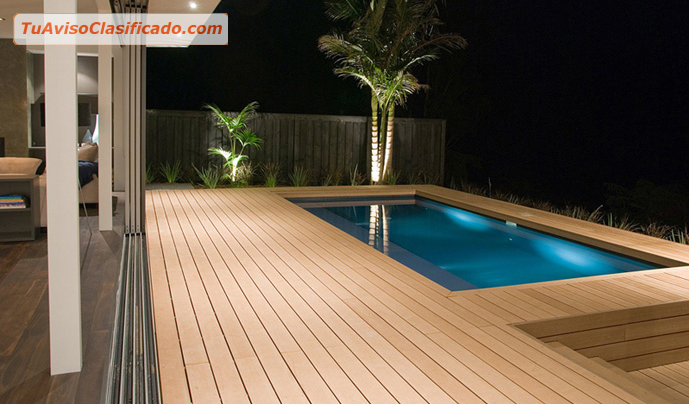 Madera sintetica para piscina jacuzzi terrazas areas de for Mantenimiento jacuzzi exterior