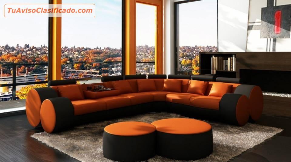 Mueble confortable en piel estilo europeo mobiliario y for Muebles modernos estilo europeo