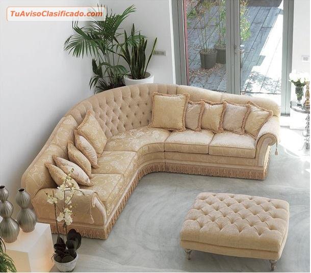 Mueble en piel capitoneado modelo s150m82 mobiliario y for Modelos de sofas clasicos
