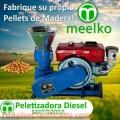 Peletizadora Diesel MKFD200A pellets de madera