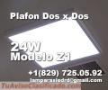 Panel LED Plano para oficina, 24W