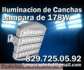 Iluminacion de cancha de tennis, beisbol, futbol con Lamparas LED