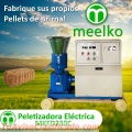 Maquina Meelko para pellets con madera 230 mm electrica 120-200 kg/h - MKFD230C