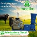 Peletizadora Diésel MKFD360A pellets comida de toro