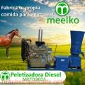 Peletizadora Diésel MKFD360A pellets comida de caballo