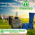 Peletizadora MKFD360A pellets comida de llama