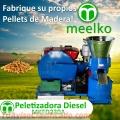 Peletizadora MKFD230A pellets con madera