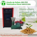Estufa de pellets  mek-p02  MINI COMBO