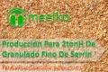 Producción Para 2tonH De Granulado Fino De Serrín