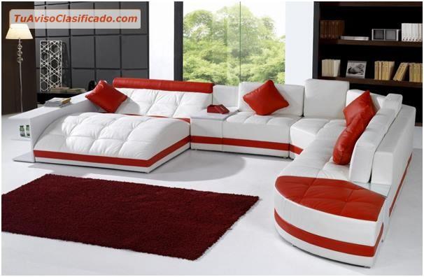 Mueble en color rojo y blanco modelo s150m73 for Modelos de muebles de sala modernos