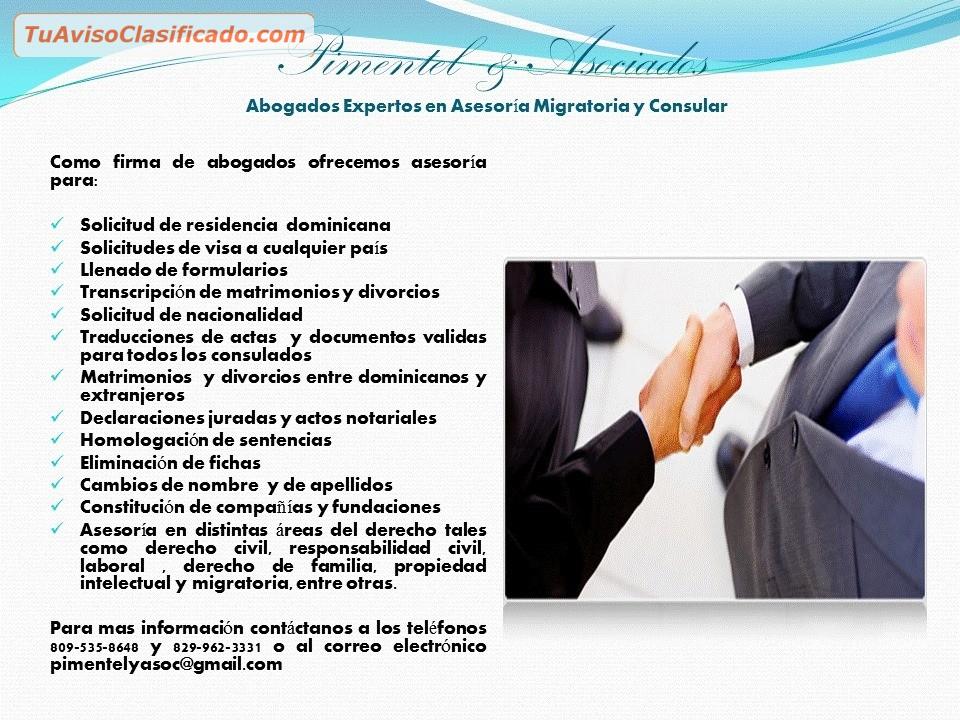 Oficina de abogados pimentel asociados servicios for Oficina de abogados